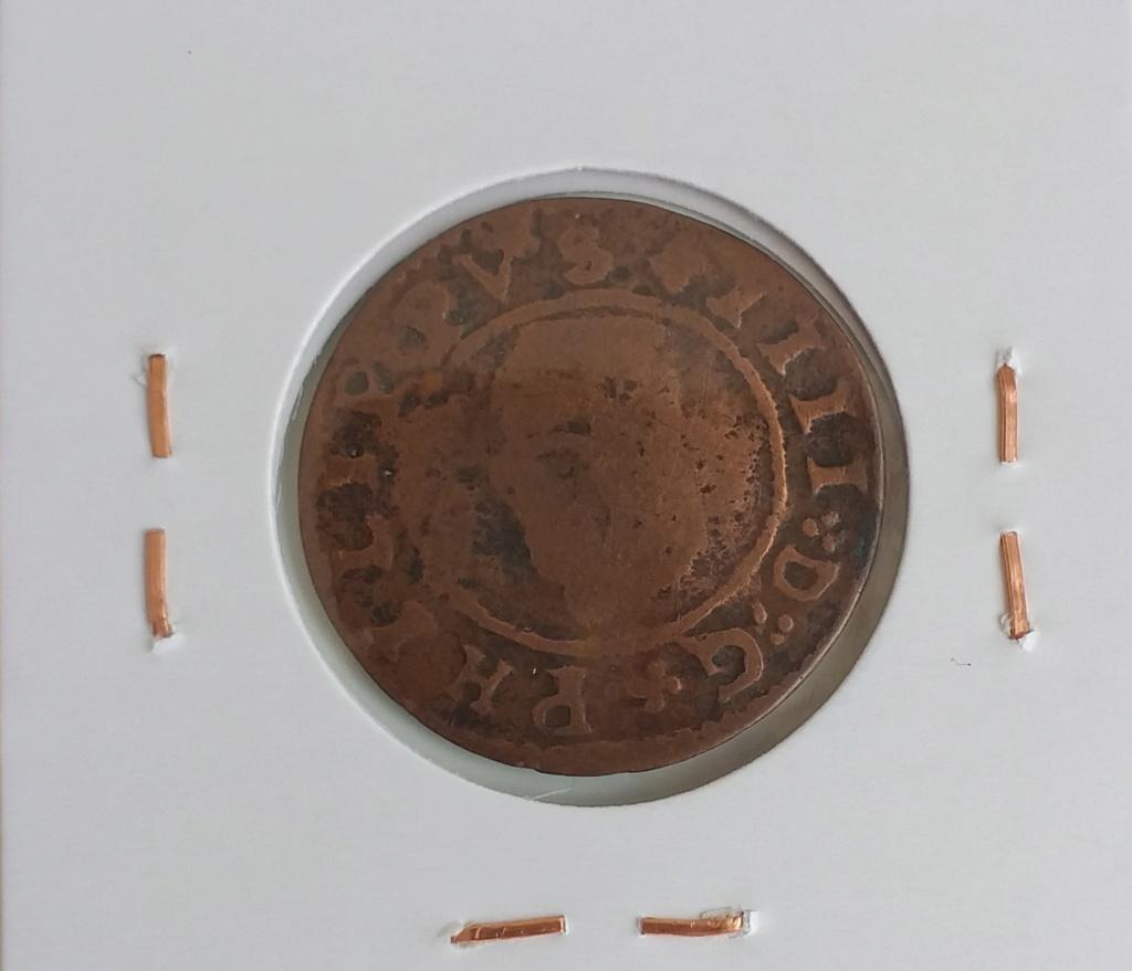 VIII maravedís resellados + 2 piezas falsas de época de Felipe IV. 20210414