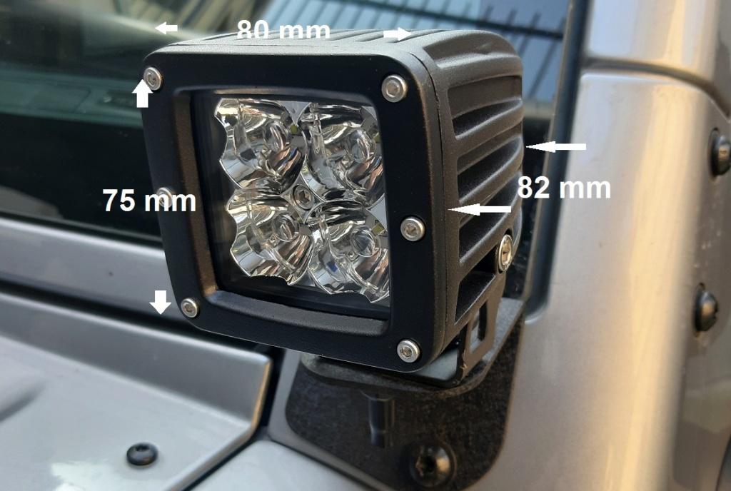 Faretti LED supplementari sul JK  Work_l10
