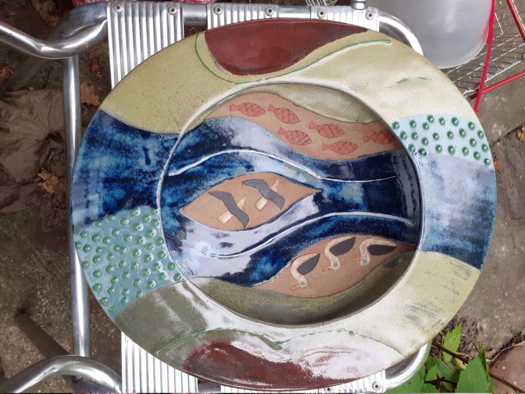 Fabulous large ovoid piece, clear raised pad mark - Diana Barraclough 20201013