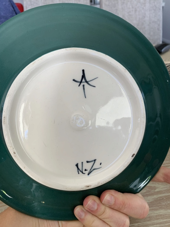 Painted jug & plate identification is by Airini Taylor Dbfad210
