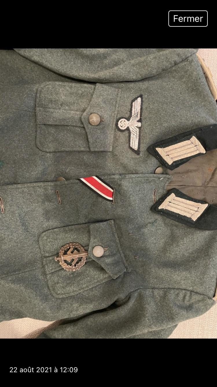 Authentification Vareuse Officier allemande 57f57310