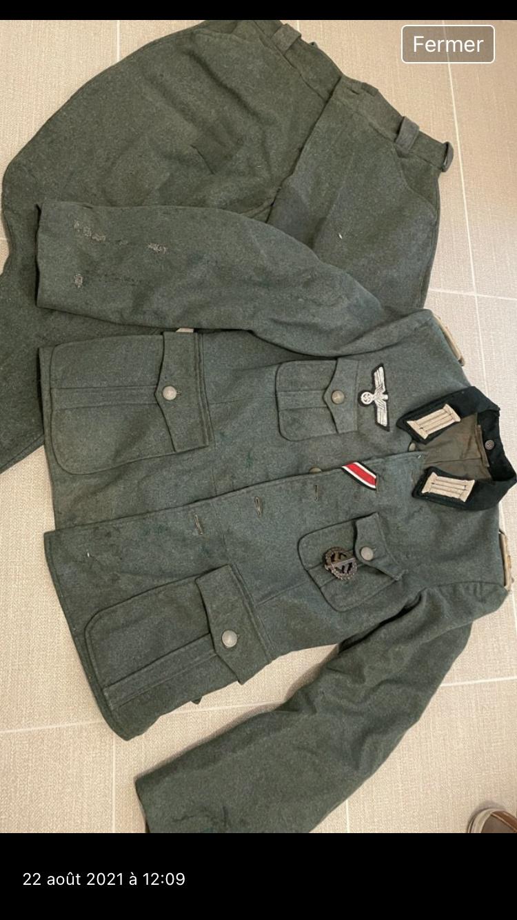 Authentification Vareuse Officier allemande E12ebd10