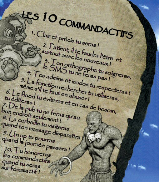 REGLEMENT DU FORUM Comman10