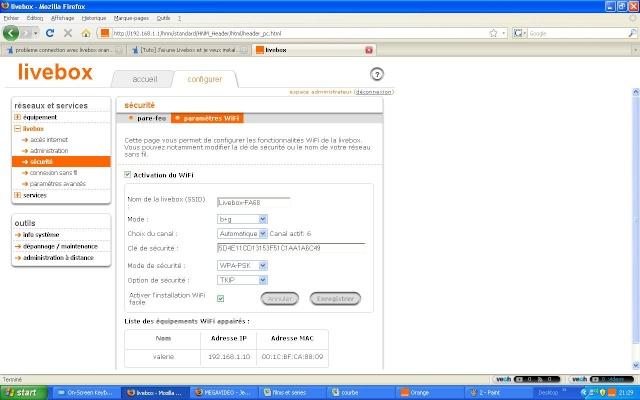 probleme connection avec livebox orange toute les leds oranges 50753710