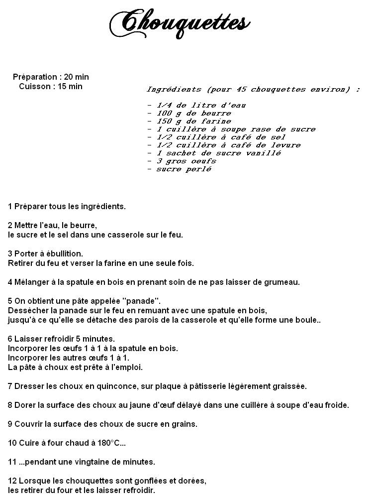 Chouquettes ( plusieurs recettes) 813