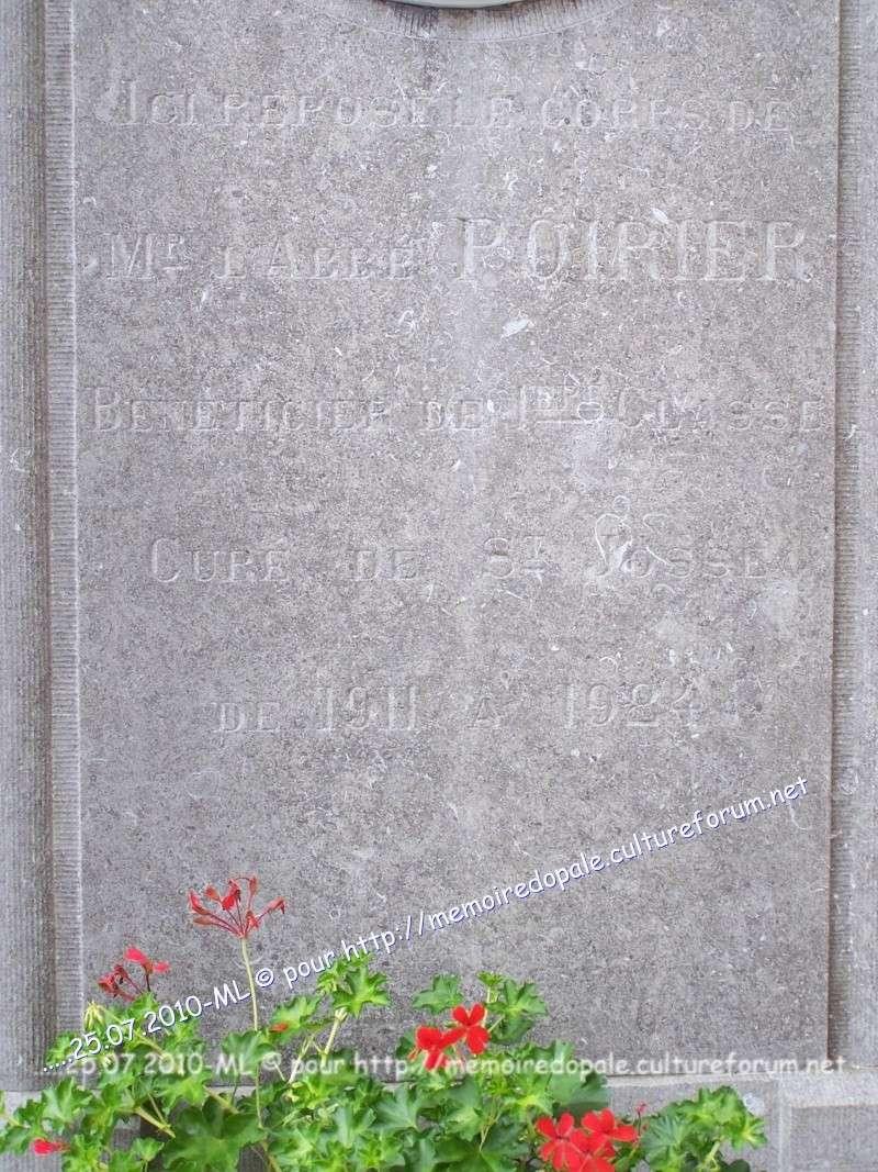 Tombe POIRIER, curé de Saint-Josse de 1911 à 1924 08614