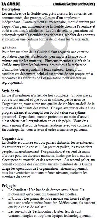 Description des organisations Guilde10