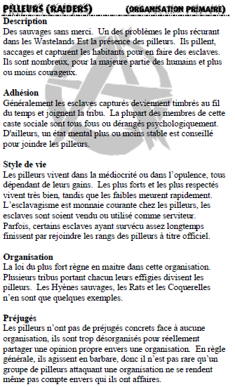 Description des organisations Raider10