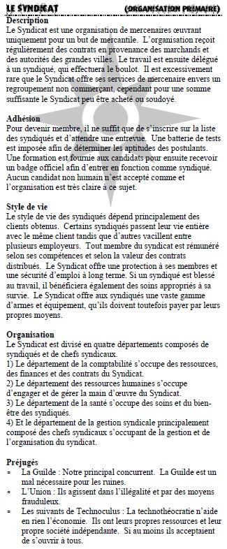 Description des organisations Syndic10