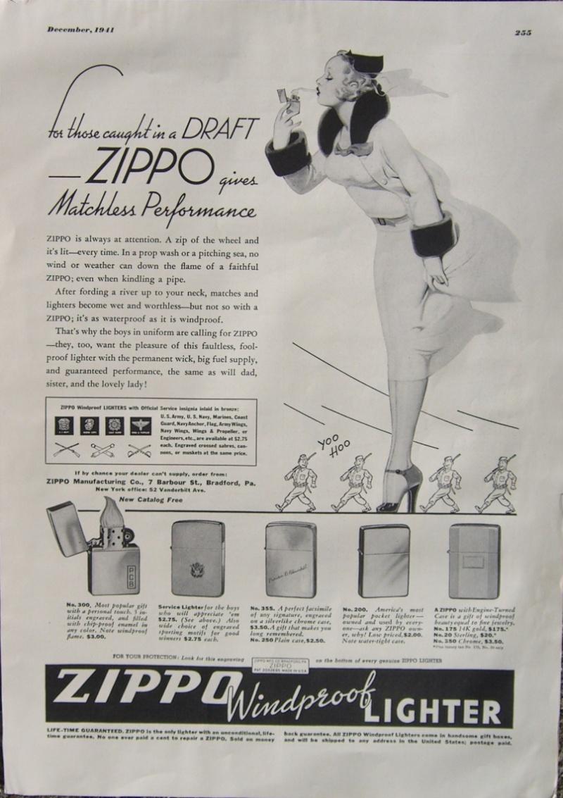 Vieilles Pub Zippo - Page 2 1941_p10