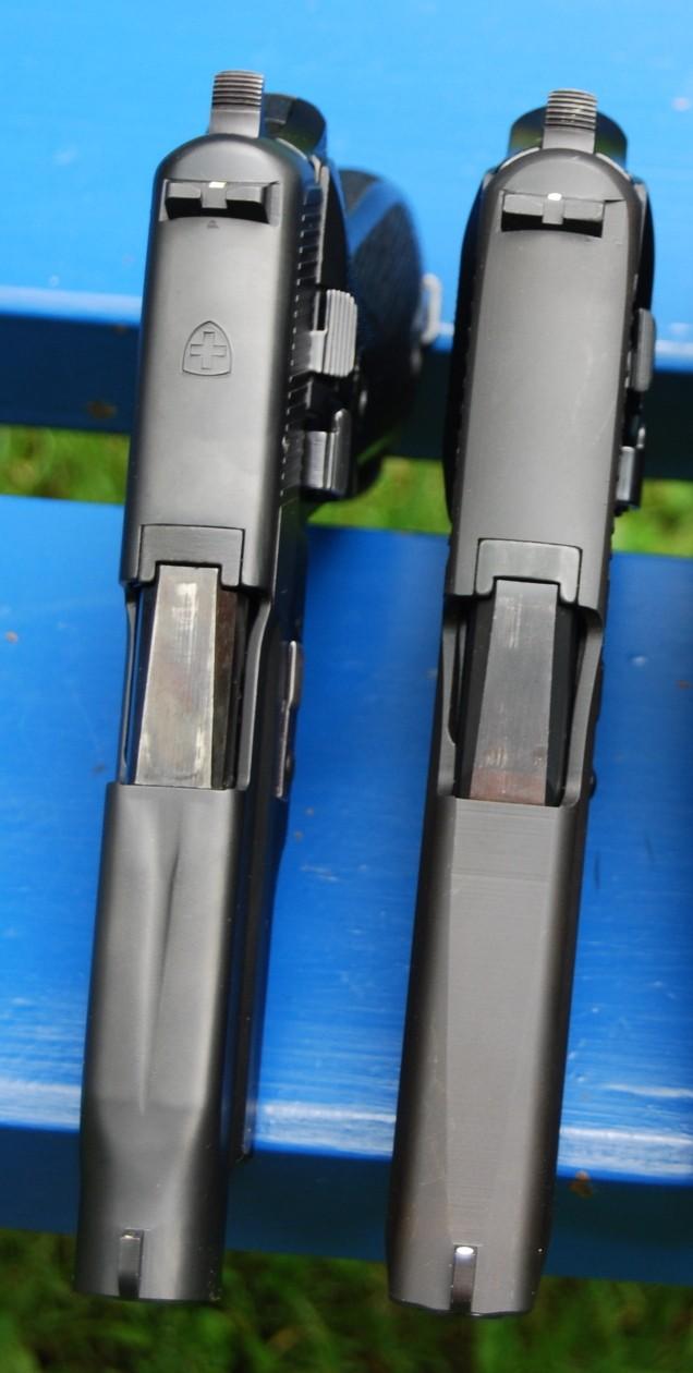 Armes de poing suisses du XXème siècle,  P06, P49 (P210), P75 Dessus18