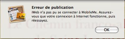 Mon iWeb refuse toute nouvelle mise en ligne Screen14