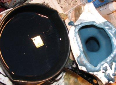 Moulage simple à la silicone avec chape de plâtre. - Page 2 910