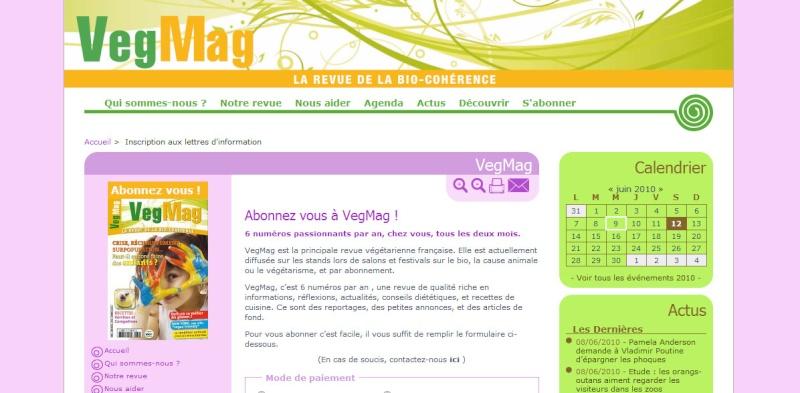 VegMag : nouveau site, nouvelle promo ce 9 juin ! Nouvea10