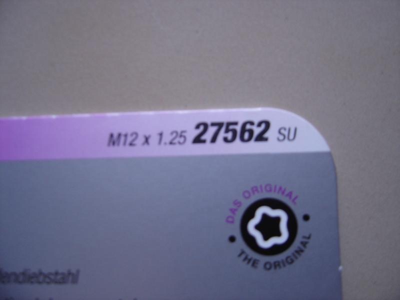 McGard anti-vol de roue excentrique M12/1.25 0211