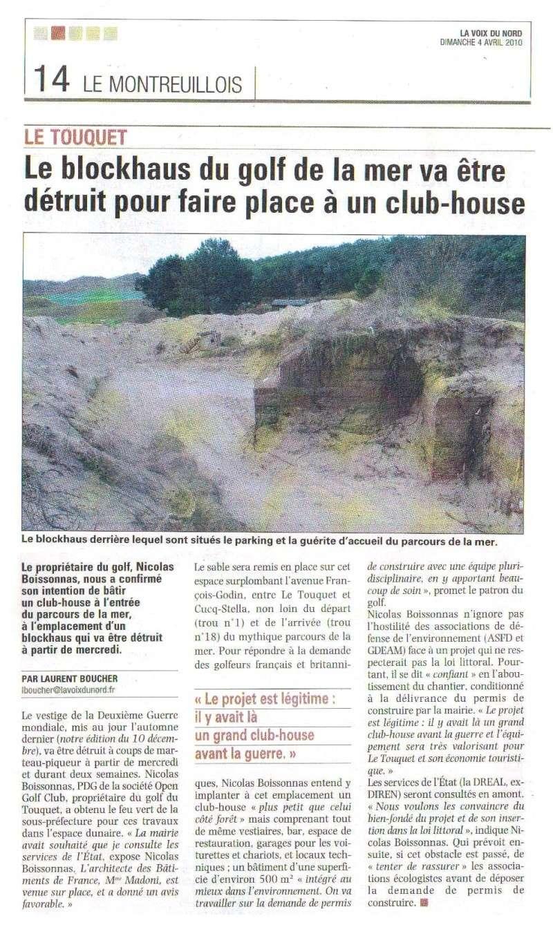 Destruction d'un bunker pour construction d'un club-house Blockh10