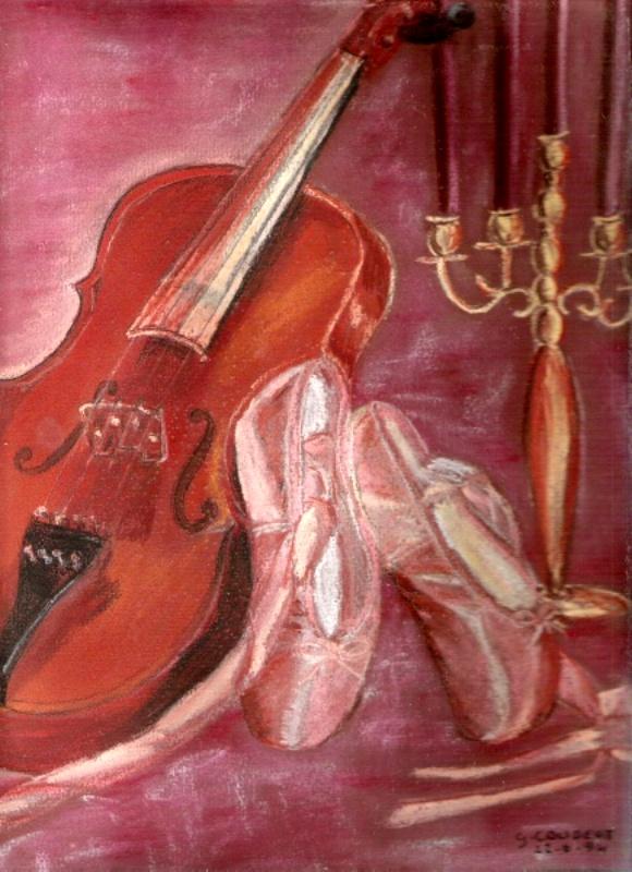 chaussons et violons(pastels secs) Chauss11