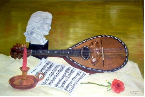La mandoline ( huile) Nature10