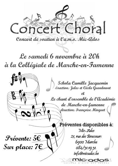 CONCERT Chorale Schola Camille Jacquemin et le Chant d'Ensemble de l'Académie de Marche-en-Famenne  Barrie10
