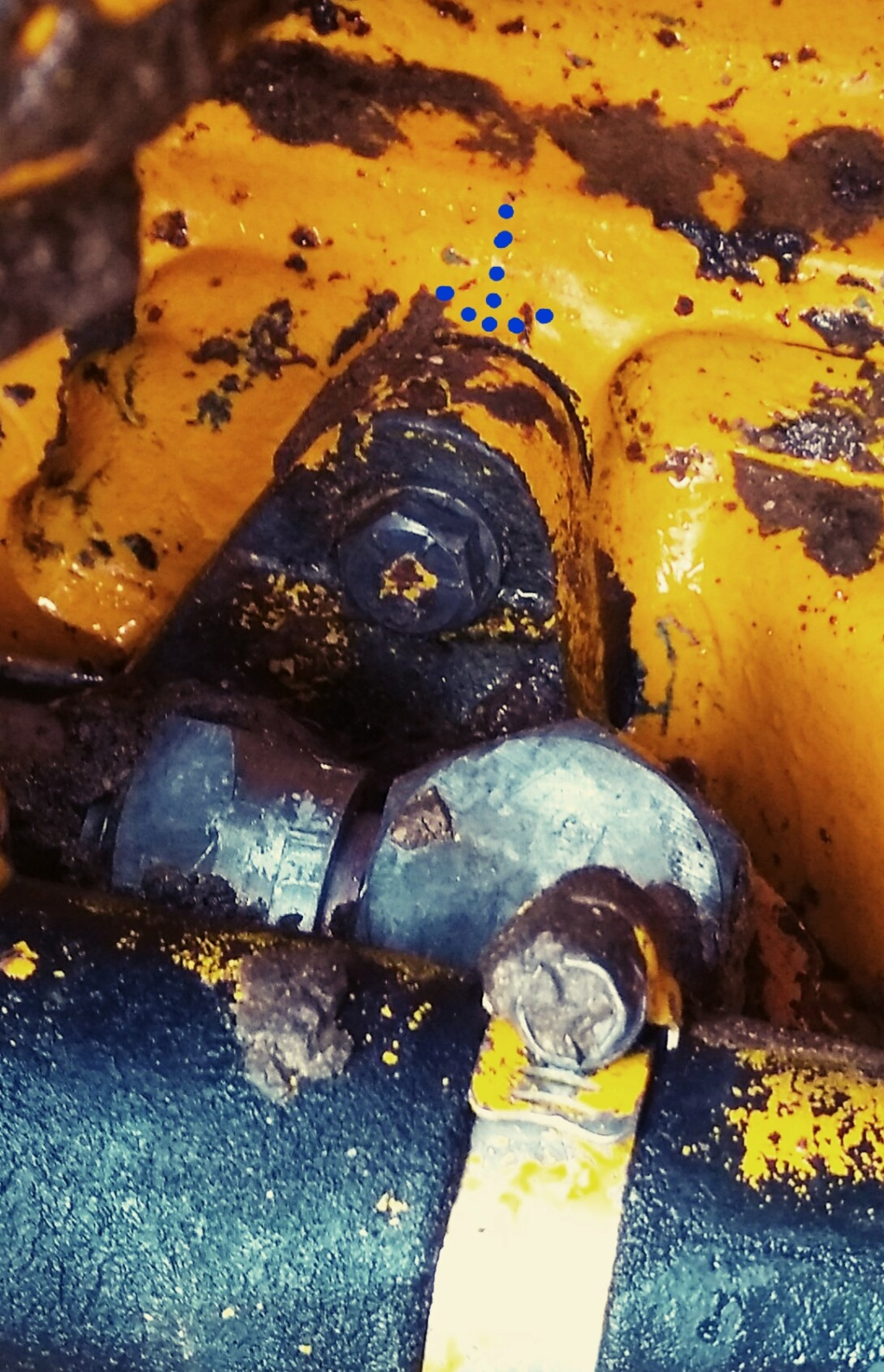 Fuite hydraulique teactopelle John Deere 410 D de 1975 20181211