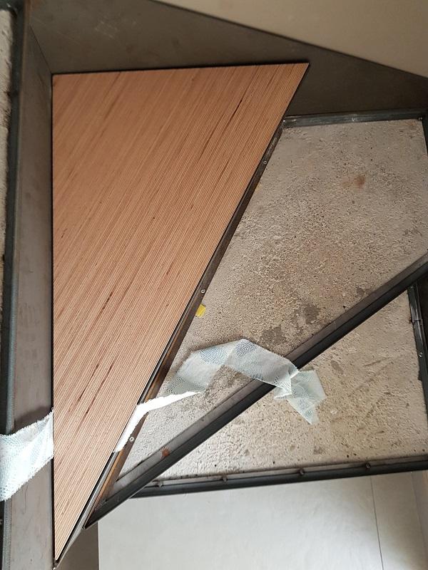 BauBuche sur escalier béton 20190817