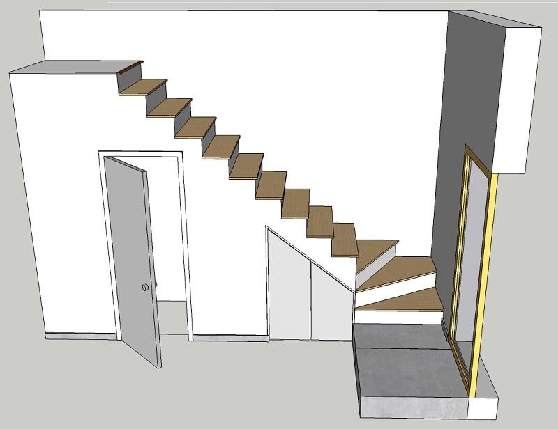 BauBuche sur escalier béton Escali10