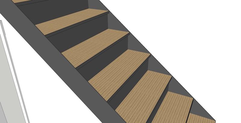 BauBuche sur escalier béton Escali15