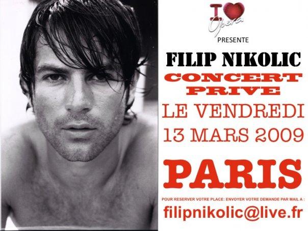 Filip Nikolic en concert privé le 13 Mars N5975415