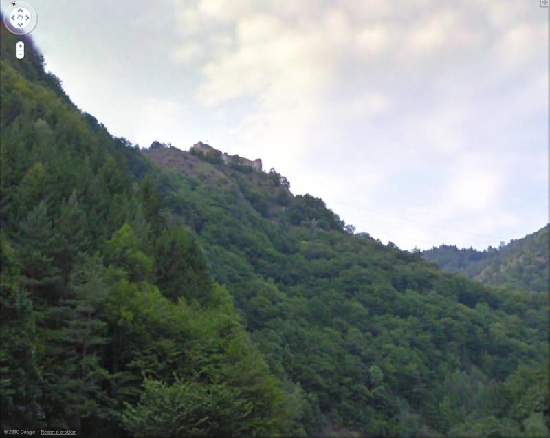 Les châteaux de Dracula repérés dans Google Earth Dracul10