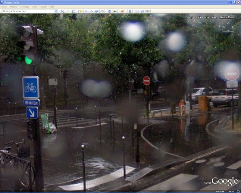 STREET VIEW : PB technique sur l'objectif de la Google Car Pluie10