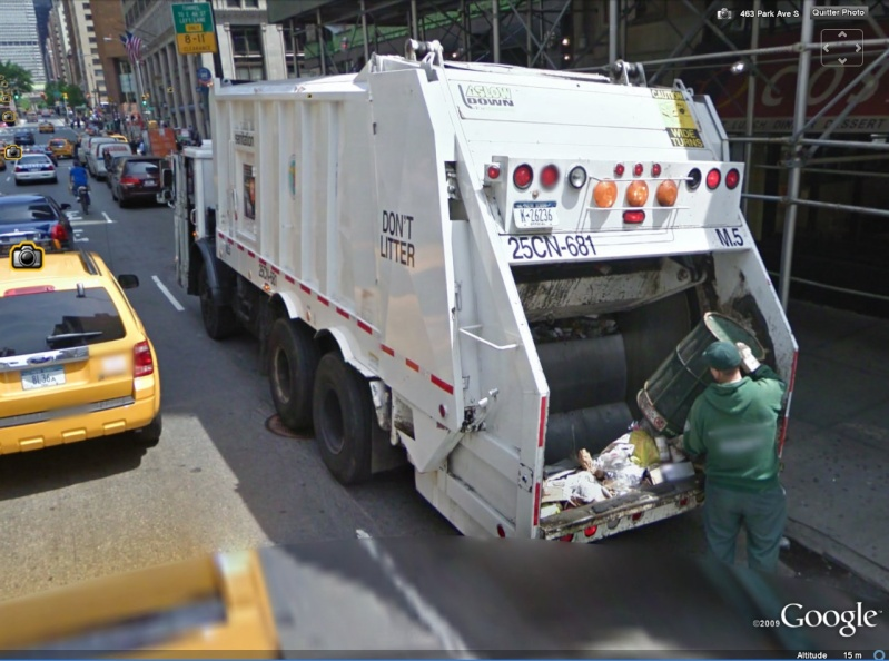 STREET VIEW : Les camions-poubelles, sujet glamour ! - Page 2 Poubel10