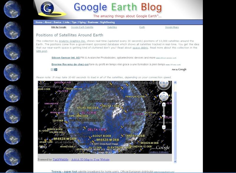 Connaitre l'emplacement des satellites Sat10