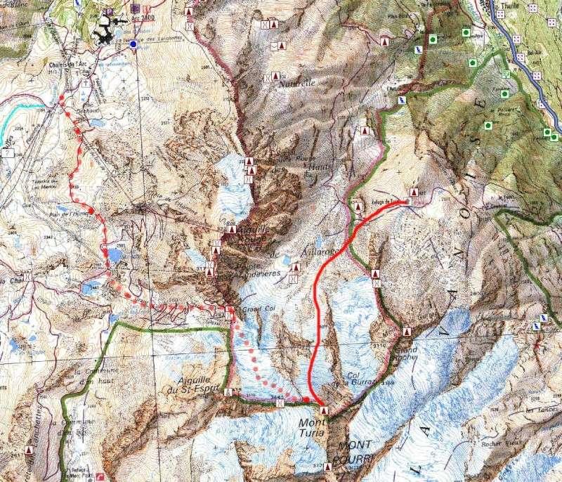 [Les Arcs]Mont Turia/Mont Pourri Carte12