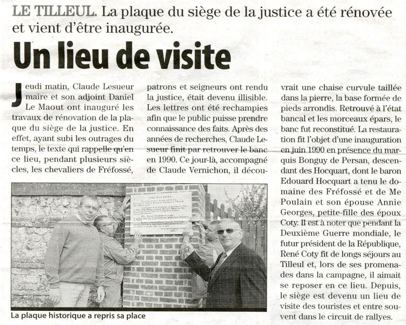 Le Tilleul - Plaque du siège de la Justice 2009-017
