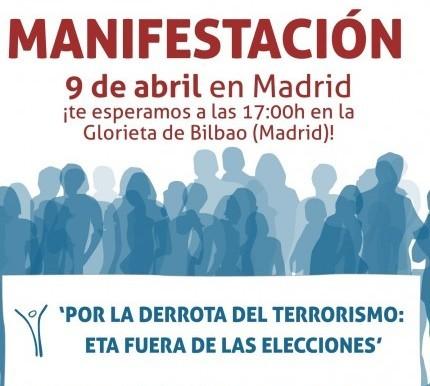 Manifestación contra el terrorismo - ETA fuera de las elecciones Cartel12