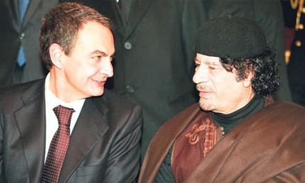 Zapatero vendió armas a Gadafi por valor de 2.000 millones de euros Zapate17