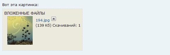 Настройка показа блока с вложенными файлами No_css10