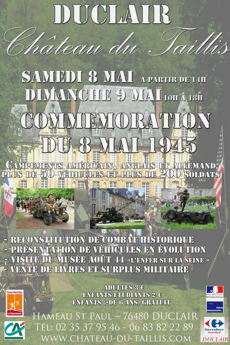 duclair 8 et 9 mai camp expo chateau du taillis Affich10