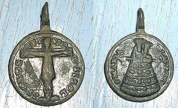 Médaille pélerinages Sirolo et N-D. de Lorette - ITALIE (2) - XVII / XVIIIème 21010610