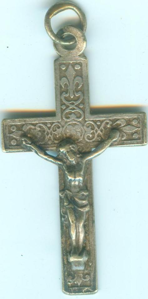 Petite croix avec fleurs de lys - XXème Croix010