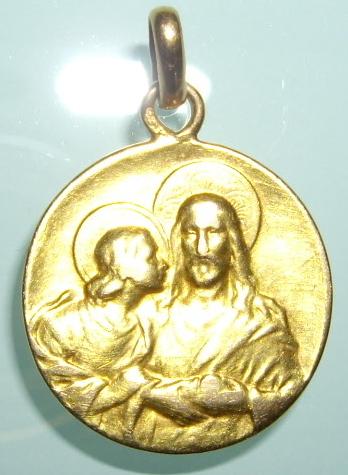 Applique Jésus et : Marie, Marie-Madeleine ou Jean / XXème Imgp0010