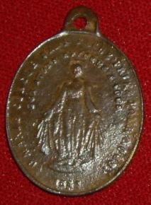Médaille miraculeuse de la rue du Bac, à Paris. fin XIXème à mi XXème Imgp9515