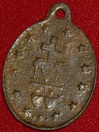 Médaille miraculeuse de la rue du Bac, à Paris. fin XIXème à mi XXème Imgp9516