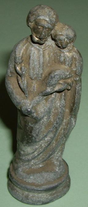 Statuette  ST-JOSEPH portant l'Enfant Jésus - XXème (en régule) Imgp9626