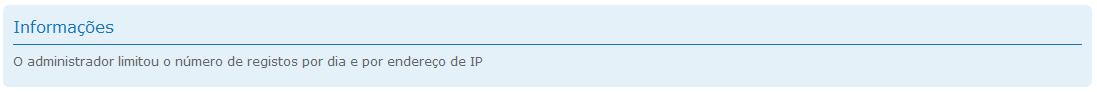 [FAQ] Limitar o número de registro por dia com o mesmo endereço de IP Msg210