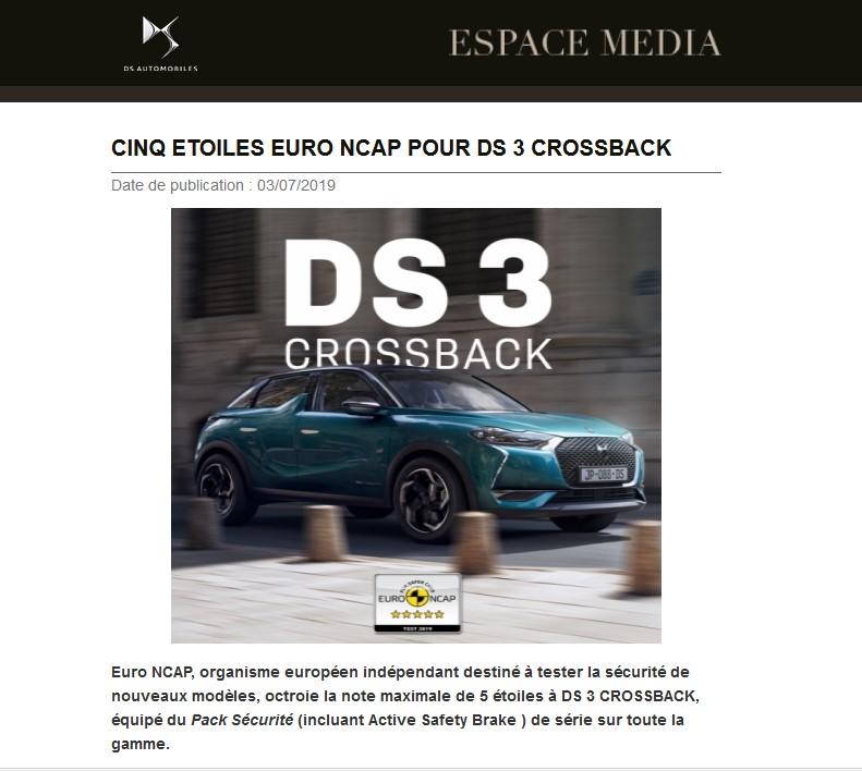 [Securité] Euro NCAP - Page 20 Ds11