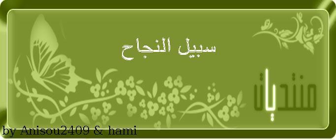 ســـبـــيـــل الــــنـــجـــاح