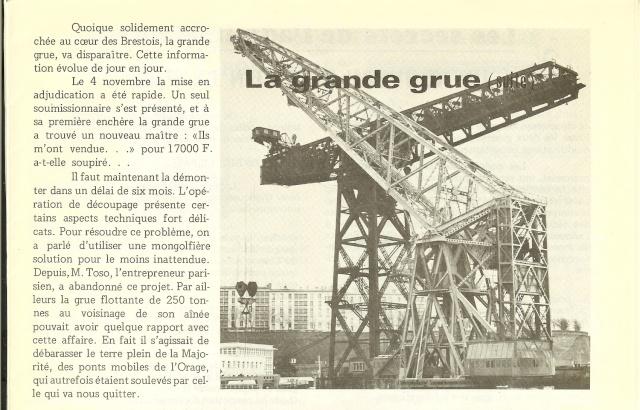 brest - [Les ports militaires de métropole] Port de Brest - TOME 1 - Page 5 Grue10