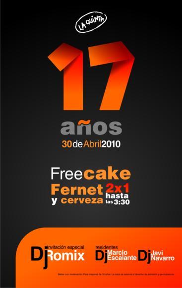 ROMIX - LA QUINTA - 17° aniversario (30.04.10) Afiche11