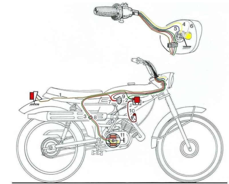 Puch Monza - Esquema Eléctrico 0010